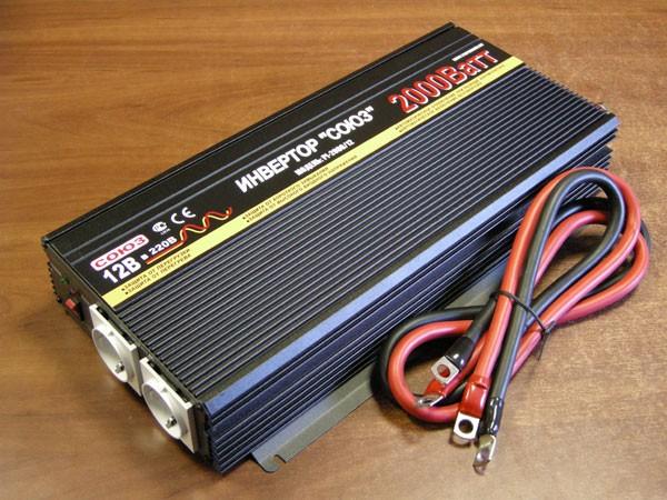 Преобразователь напряжения PI-2000/12V (12-220V 2000W)